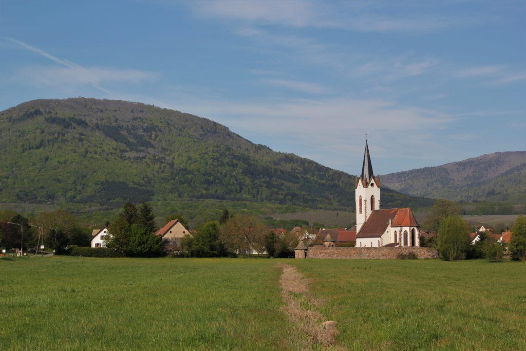 vue du village de Hartmannswiller à l'entrée