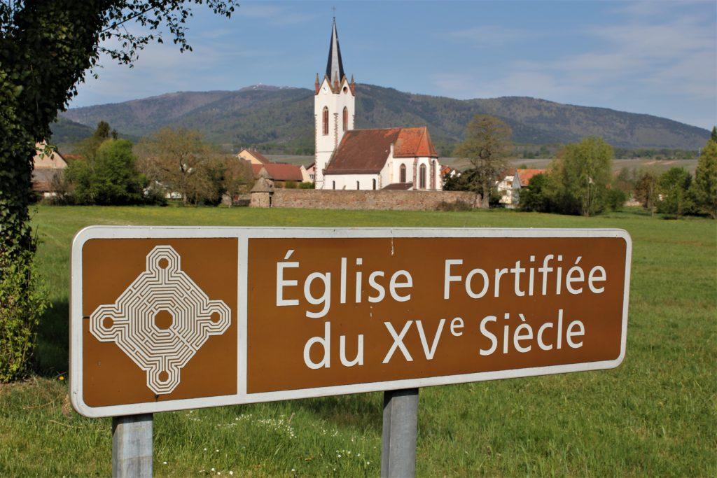 Panneau Eglise fortifiée du 15ème siècle